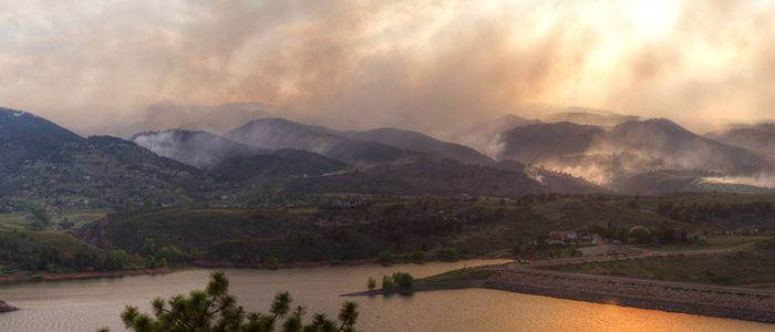 Panoramic View of the High Park Wildfire in the Colorado Rocky Mountains