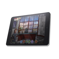 tablet with interact ce game open