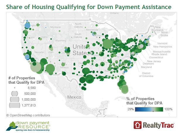 Down payment Map