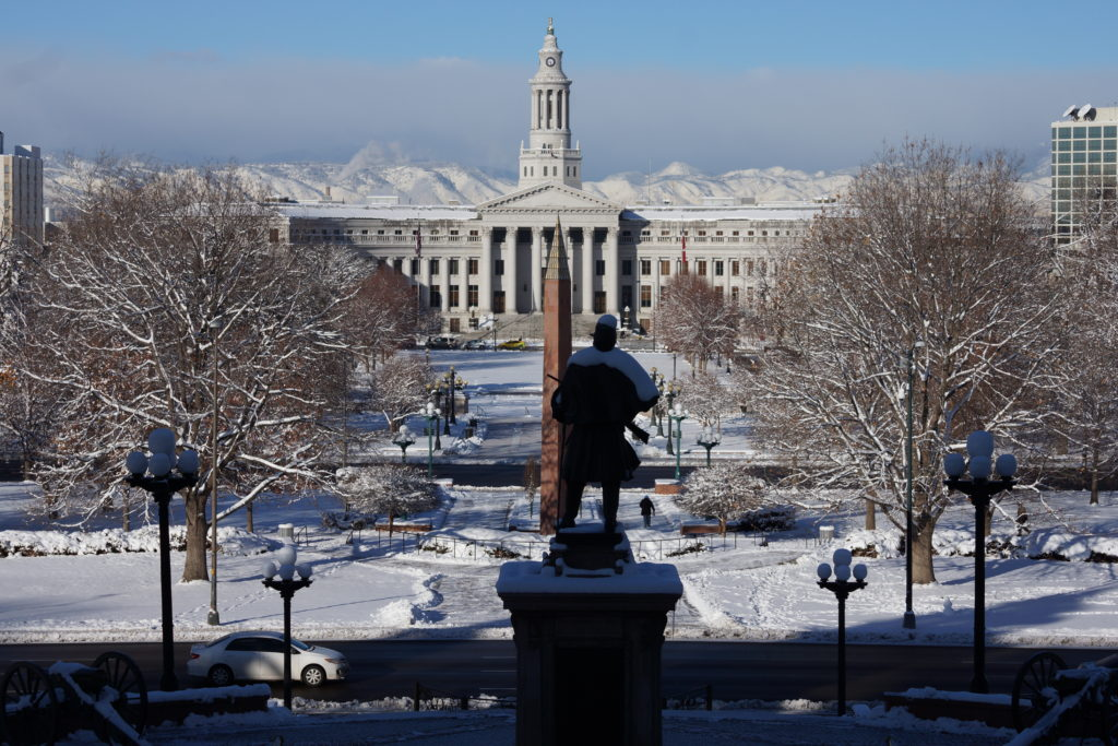 Image of Denver taken from the Colorado State Capitol