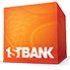 "Orange Box with ""1STBANK"" at the bottom in white displayed as logo"