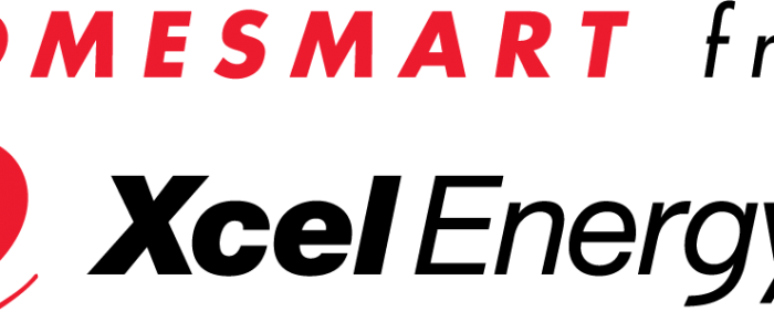 HomeSmart from Xcel Energy red and black logo