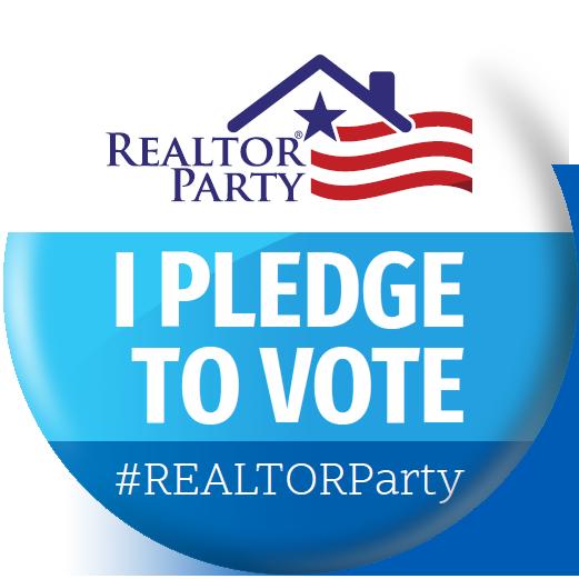I Pledge to Vote REALTOR Party button