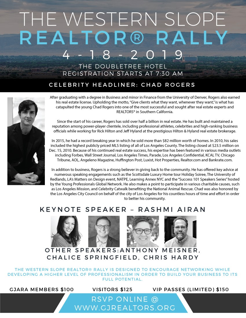 Western Slope REALTOR Rally Flyer