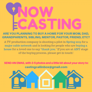 Now Casting Flyer from TV Production Company