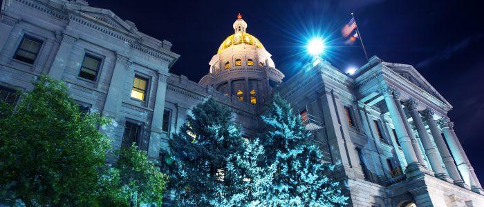 Colorado State Capitol. Capitol Building in Denver Colorado USA.
