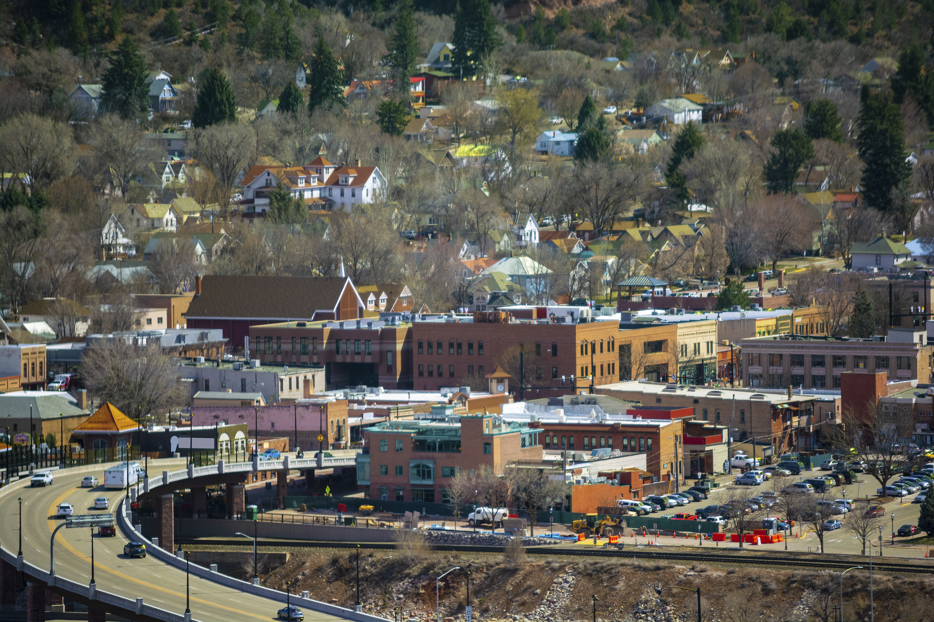 Downtown Glenwood Springs, Colorado on a Sunny Day