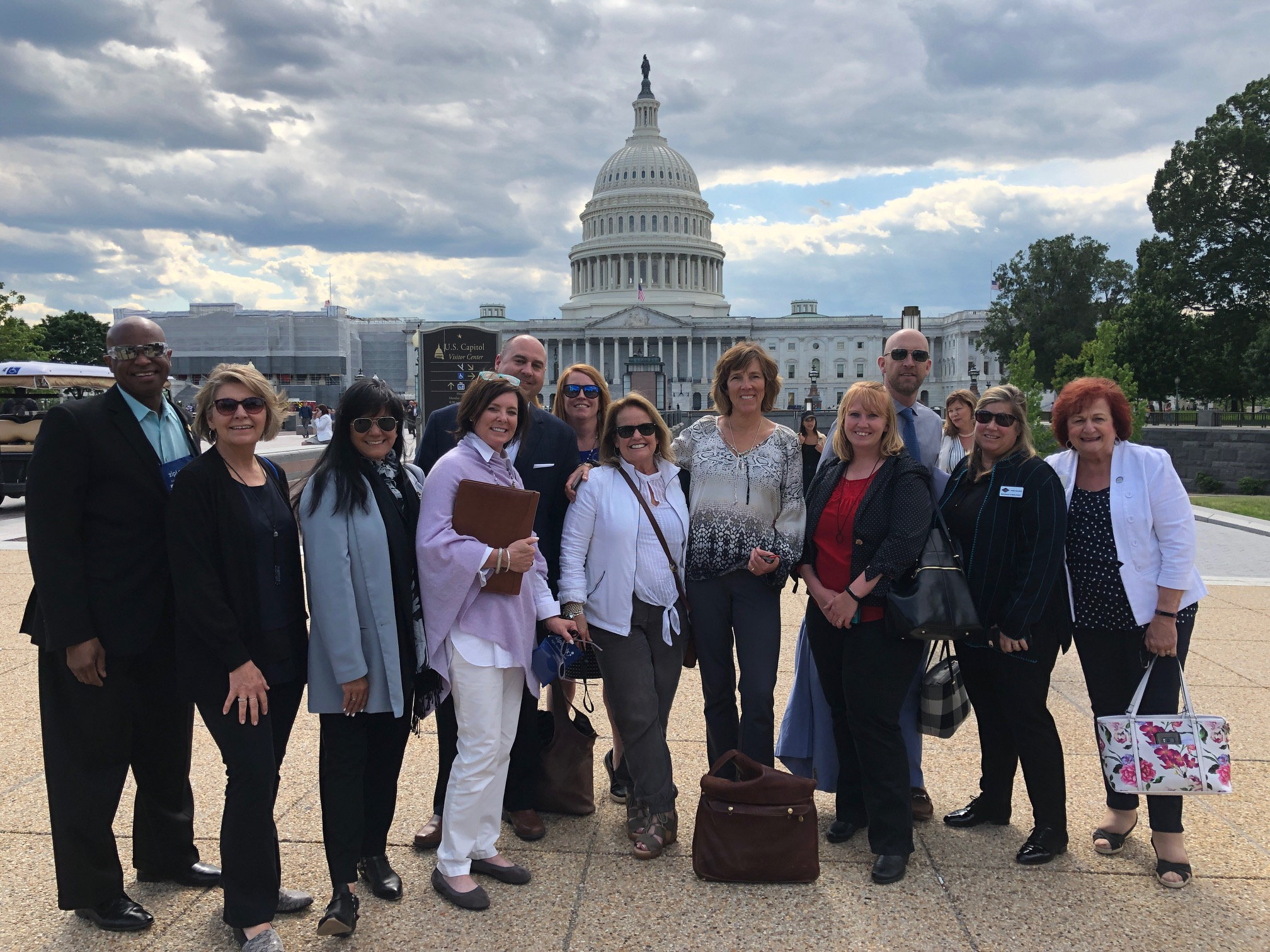 REALTORS gathered in front of the Capitol for NAR Midyear Meetings