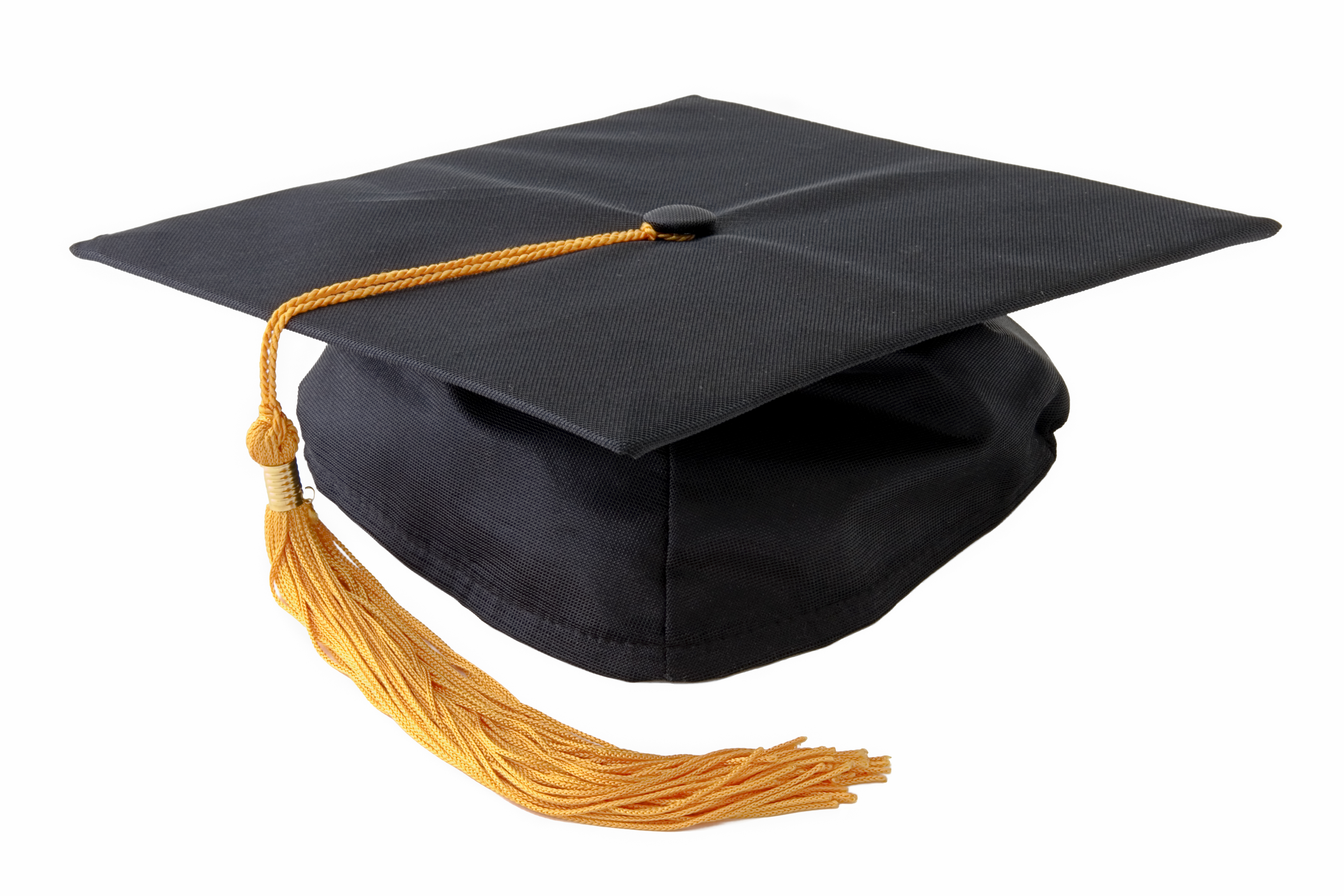 A graduation cap. Isolated on white background